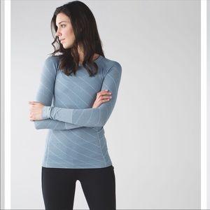 Lululemon Swiftly Tech Blue Long Sleeve Shirt
